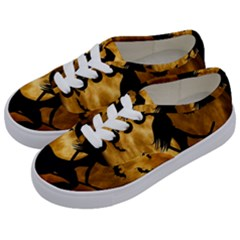 Halloween Wicked Witch Bat Moon Night Kids  Classic Low Top Sneakers by Alisyart