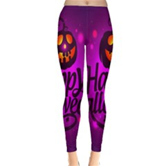 Happy Ghost Halloween Classic Winter Leggings