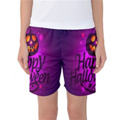 Happy Ghost Halloween Women s Basketball Shorts by Alisyart