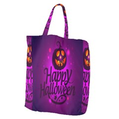 Happy Ghost Halloween Giant Grocery Zipper Tote