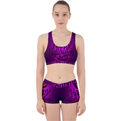 Happy Ghost Halloween Work It Out Sports Bra Set