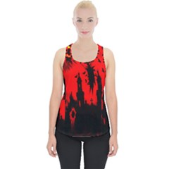 Big Eye Fire Black Red Night Crow Bird Ghost Halloween Piece Up Tank Top by Alisyart