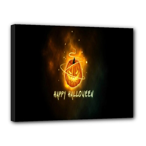 Happy Halloween Pumpkins Face Smile Face Ghost Night Canvas 16  X 12  by Alisyart