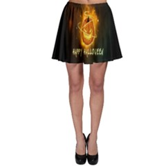 Happy Halloween Pumpkins Face Smile Face Ghost Night Skater Skirt