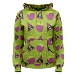 Hat Formula Purple Green Polka Dots Women s Pullover Hoodie