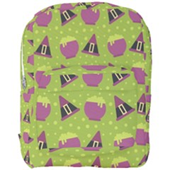 Hat Formula Purple Green Polka Dots Full Print Backpack