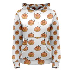 Face Mask Ghost Halloween Pumpkin Pattern Women s Pullover Hoodie