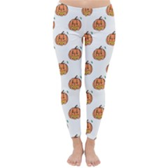 Face Mask Ghost Halloween Pumpkin Pattern Classic Winter Leggings