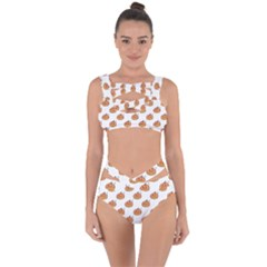 Face Mask Ghost Halloween Pumpkin Pattern Bandaged Up Bikini Set  by Alisyart