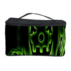 Pumpkin Black Halloween Neon Green Face Mask Smile Cosmetic Storage Case