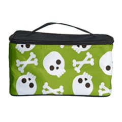 Skull Bone Mask Face White Green Cosmetic Storage Case