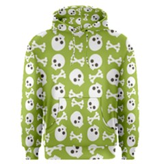 Skull Bone Mask Face White Green Men s Pullover Hoodie