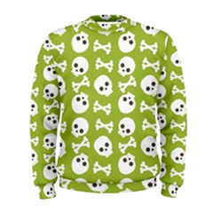 Skull Bone Mask Face White Green Men s Sweatshirt