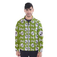 Skull Bone Mask Face White Green Wind Breaker (Men)