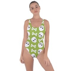 Skull Bone Mask Face White Green Bring Sexy Back Swimsuit