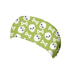 Skull Bone Mask Face White Green Yoga Headband