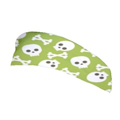 Skull Bone Mask Face White Green Stretchable Headband