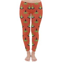 Hat Wicked Witch Ghost Halloween Red Green Black Classic Winter Leggings