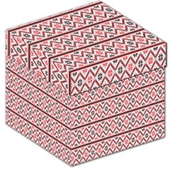 Red Flower Star Patterned Storage Stool 12