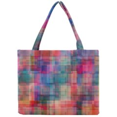 Rainbow Prism Plaid  Mini Tote Bag by KirstenStar