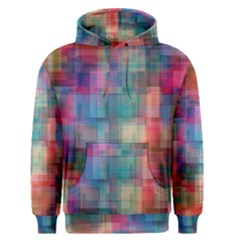 Rainbow Prism Plaid  Men s Pullover Hoodie by KirstenStar