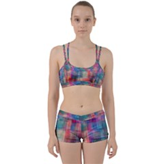 Rainbow Prism Plaid  Women s Sports Set by KirstenStar