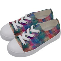 Rainbow Prism Plaid  Kids  Low Top Canvas Sneakers by KirstenStar
