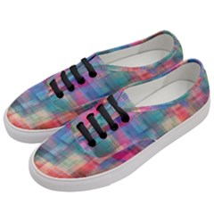 Rainbow Prism Plaid  Women s Classic Low Top Sneakers by KirstenStar