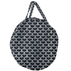 Scales3 Black Marble & Ice Crystals (r) Giant Round Zipper Tote by trendistuff