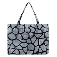 Skin1 Black Marble & Ice Crystals (r) Medium Tote Bag by trendistuff