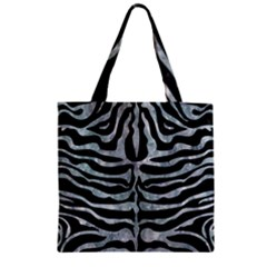 Skin2 Black Marble & Ice Crystals (r) Zipper Grocery Tote Bag