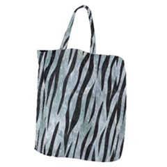 Skin3 Black Marble & Ice Crystals Giant Grocery Zipper Tote by trendistuff