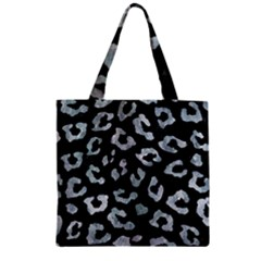 Skin5 Black Marble & Ice Crystals Zipper Grocery Tote Bag by trendistuff