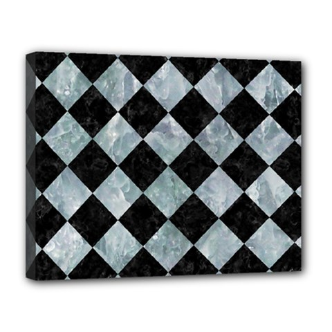 Square2 Black Marble & Ice Crystals Canvas 14  X 11