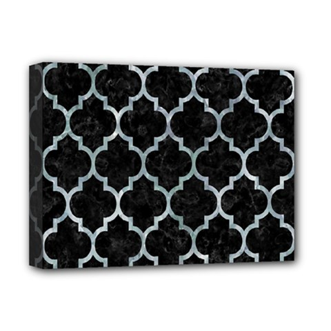Tile1 Black Marble & Ice Crystals (r) Deluxe Canvas 16  X 12   by trendistuff