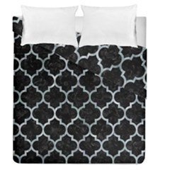 Tile1 Black Marble & Ice Crystals (r) Duvet Cover Double Side (queen Size) by trendistuff