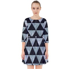 Triangle3 Black Marble & Ice Crystals Smock Dress by trendistuff