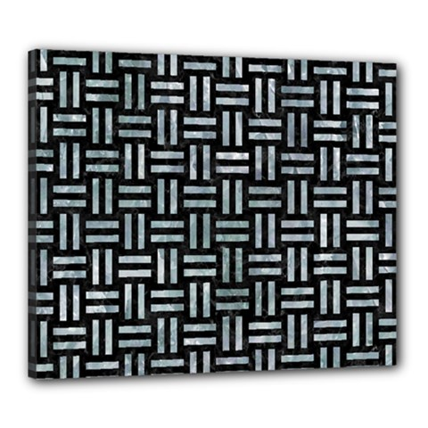 Woven1 Black Marble & Ice Crystals (r) Canvas 24  X 20  by trendistuff