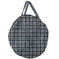 Woven1 Black Marble & Ice Crystals (r) Giant Round Zipper Tote by trendistuff