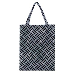 Woven2 Black Marble & Ice Crystals Classic Tote Bag by trendistuff