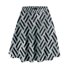 Woven2 Black Marble & Ice Crystals High Waist Skirt by trendistuff