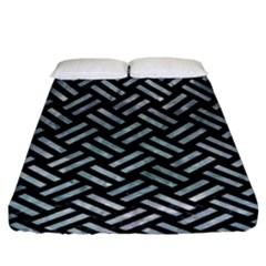 Woven2 Black Marble & Ice Crystals (r) Fitted Sheet (king Size) by trendistuff