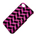 CHEVRON1 BLACK MARBLE & PINK BRUSHED METAL Apple iPhone 4/4S Hardshell Case with Stand View4
