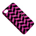 CHEVRON1 BLACK MARBLE & PINK BRUSHED METAL Apple iPhone 4/4S Hardshell Case with Stand View5