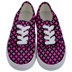 Circles3 Black Marble & Pink Brushed Metal Kids  Classic Low Top Sneakers