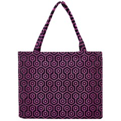 Hexagon1 Black Marble & Pink Brushed Metal (r) Mini Tote Bag by trendistuff