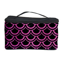 Scales2 Black Marble & Pink Brushed Metal (r) Cosmetic Storage Case by trendistuff