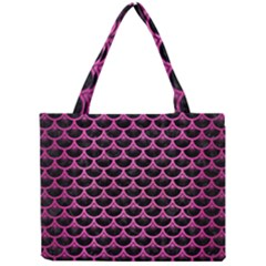 Scales3 Black Marble & Pink Brushed Metal (r) Mini Tote Bag by trendistuff