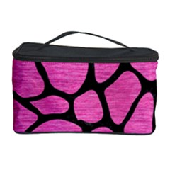 Skin1 Black Marble & Pink Brushed Metal (r) Cosmetic Storage Case by trendistuff