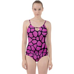 Skin1 Black Marble & Pink Brushed Metal (r) Cut Out Top Tankini Set by trendistuff